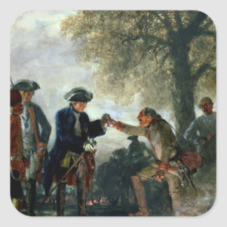 Frederick the Great  with Zieten at the Camp Square Sticker