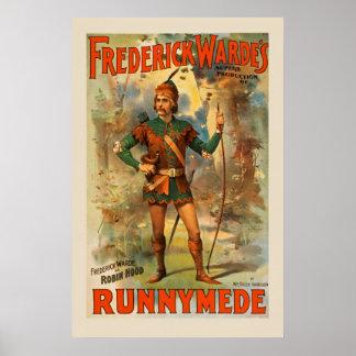 Frederick Warde Runnyede Robin Hood Vintage Poster