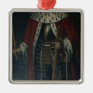 Frederick William I, King of Prussia Regalia Silver-Colored Square Decoration
