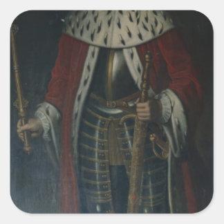 Frederick William I, King of Prussia Regalia Square Sticker