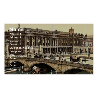 Frederick's Bridge and the Bourse, Berlin, Germany Business Card Templates