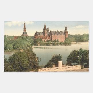 Fredericksborg Castle I, Copenhagen, Denmark Rectangular Sticker
