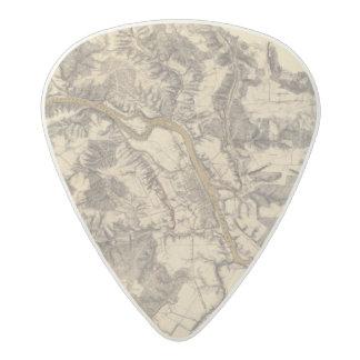 Fredericksburg, Virginia Acetal Guitar Pick