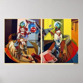 Frederik Bellanger femme&homme jambes croisees Print