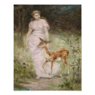 "Fredrick Stewart Church 1888 ""A Willing Captive"" Photograph"