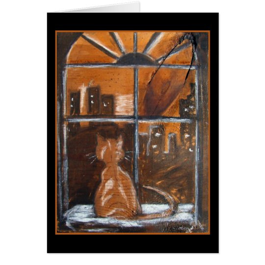 Fredrick's Window - Original Art Greeting Card