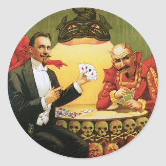 Fredrik The Great ~ Magician Vintage Magic Act Classic Round Sticker