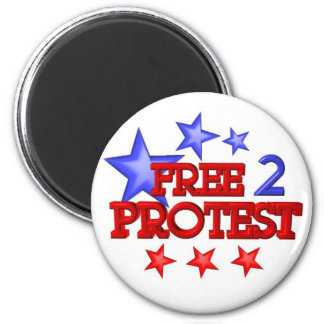 Free 2 Protest Occupy  on 30 items 6 Cm Round Magnet