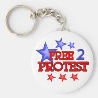 Free 2 Protest Occupy  on 30 items Basic Round Button Key Ring