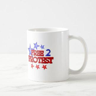 Free 2 Protest Occupy  on 30 items Basic White Mug