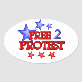 Free 2 Protest Occupy  on 30 items Oval Sticker