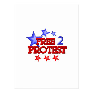 Free 2 Protest Occupy  on 30 items Postcard
