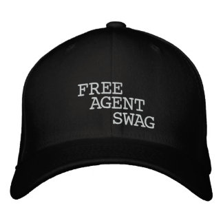 FREE $ AGENT GEAR,black,fitted,SWAG,hat Embroidered Cap