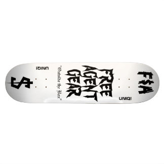 FREE $ AGENT GEAR,skateboard deck 21.6 Cm Skateboard Deck