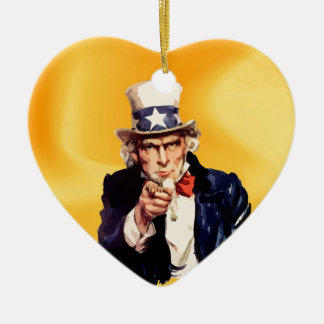 Free America Uncle Sam Christmas Ornament