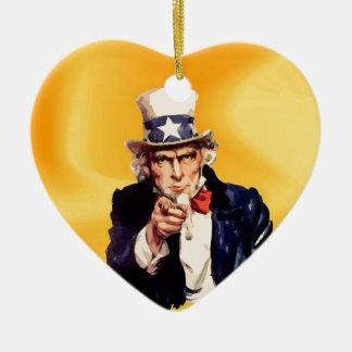 Free America Uncle Sam Christmas Ornament
