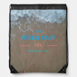 Free and easy bag drawstring backpack