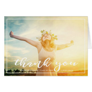 Free and Focused | Graduation Thank You | Light Card