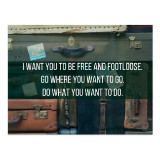 Free and Footloose Postcard