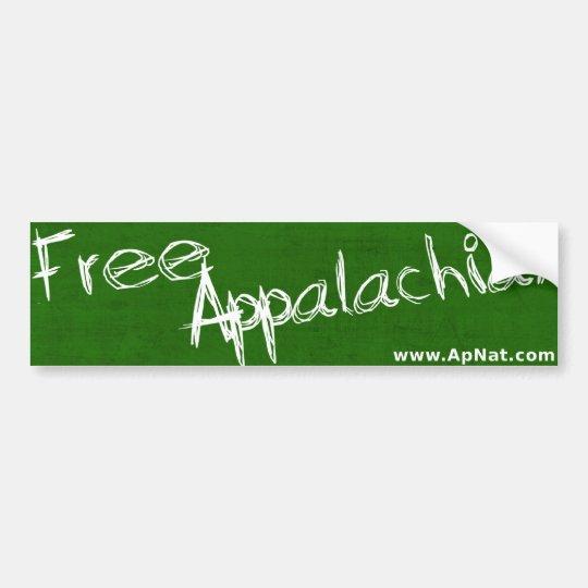 Free Appalachia!  Bumpersticker Bumper Sticker