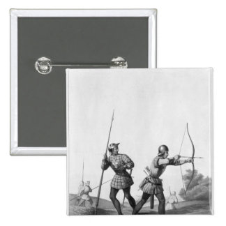 Free archers during the reign of Louis XI 15 Cm Square Badge
