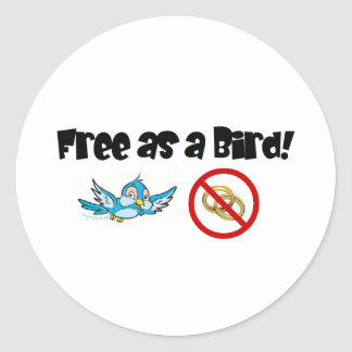 Free as a Bird! Classic Round Sticker