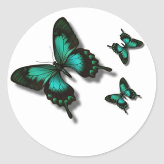 Free as a butterfly round sticker