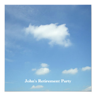 Free as Clouds/Retirement Party Invites