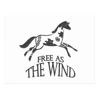Free as the Wind Postcard