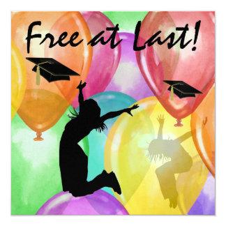 Free At Last -  SRF 5.25x5.25 Square Paper Invitation Card