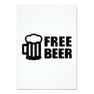 "Free Beer 3.5"" X 5"" Invitation Card"