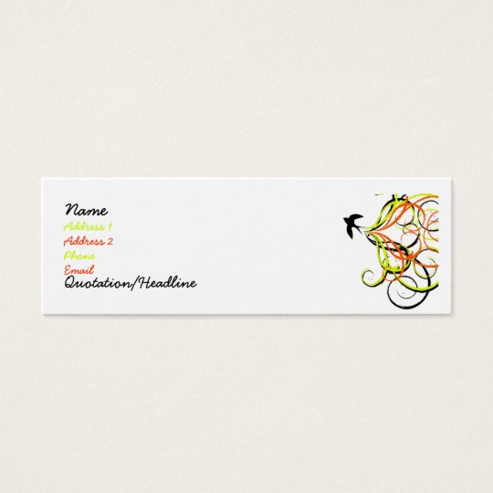 free bird mini business card
