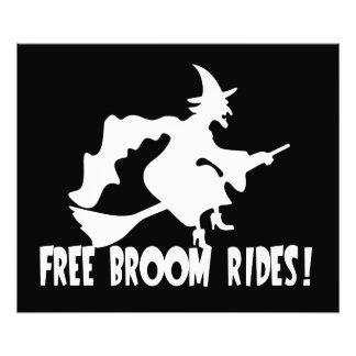 Free Broom Rides Funny Witch Photo Print