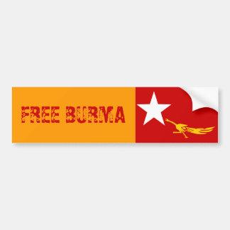 FREE BURMA BUMPER STICKER