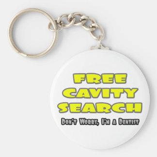 Free Cavity Search ... Dentist Joke Key Ring