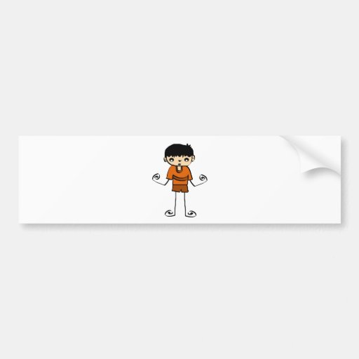 Free Characters by Jaidee Bumper Sticker