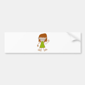 Free Characters by Jaidee Family Bumper Sticker