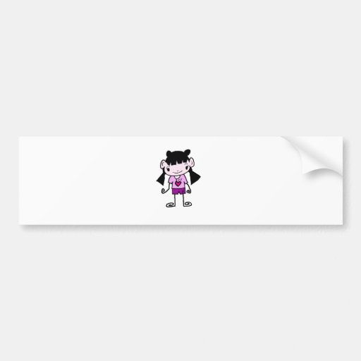 Free Characters by Jaidee Family Bumper Stickers