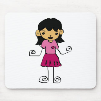 Free Characters by Jaidee Family Mouse Pad