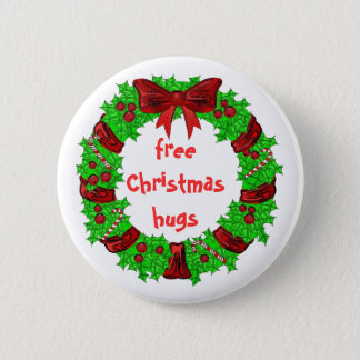 free Christmas hugs button