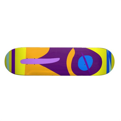 Free Colorful Digital Abstract Painting Skateboard Deck
