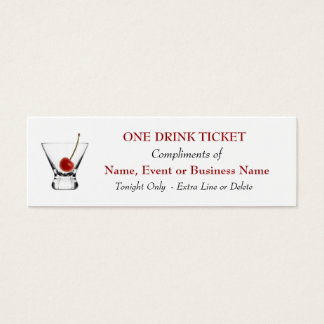 Free Complimentary Drink Ticket Bar Special Events
