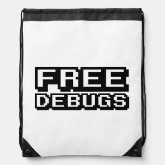 FREE DEBUGS DRAWSTRING BACKPACK