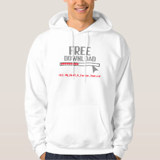 'Free Download' Funny Computer Hoodie