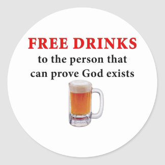 Free Drinks Classic Round Sticker
