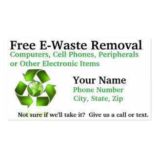 Free E-Waste Removal Pack Of Standard Business Cards