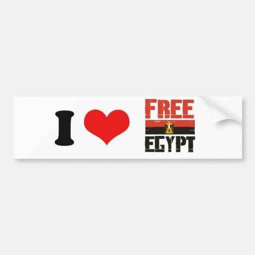 FREE EGYPT BUMPER STICKERS