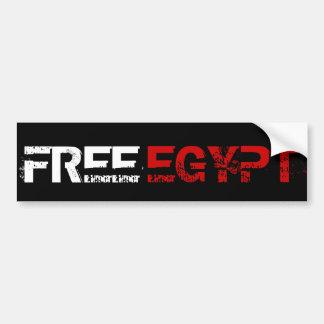 FREE EGYPT CAR BUMPER STICKER