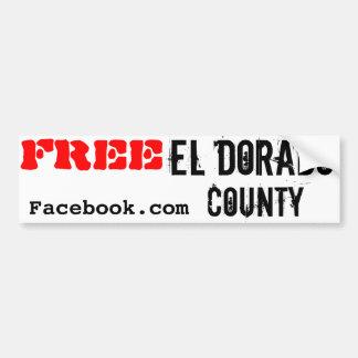 Free El Dorado County Bumper Sticker