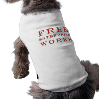 Free Enterprise Works Dog Sleeveless Dog Shirt